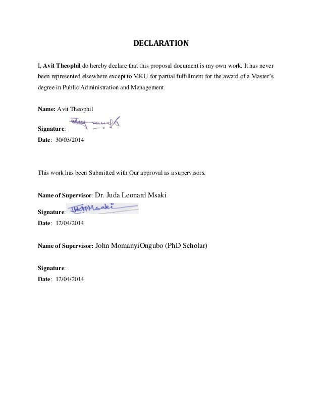 Avit Theophil Proposal On Public Policy Mount Kenya University