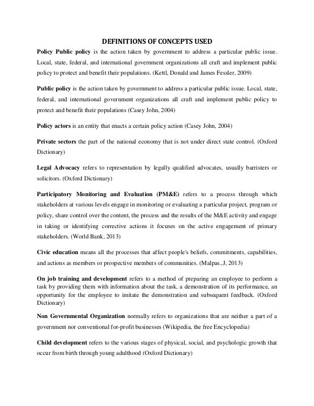 policy proposal sample