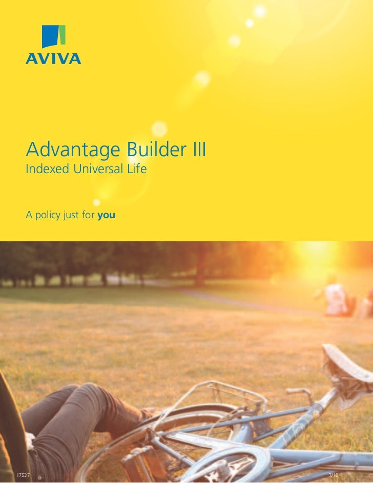 Advantage Builder III   Indexed Universal Life   A policy just for you17537                       7/10