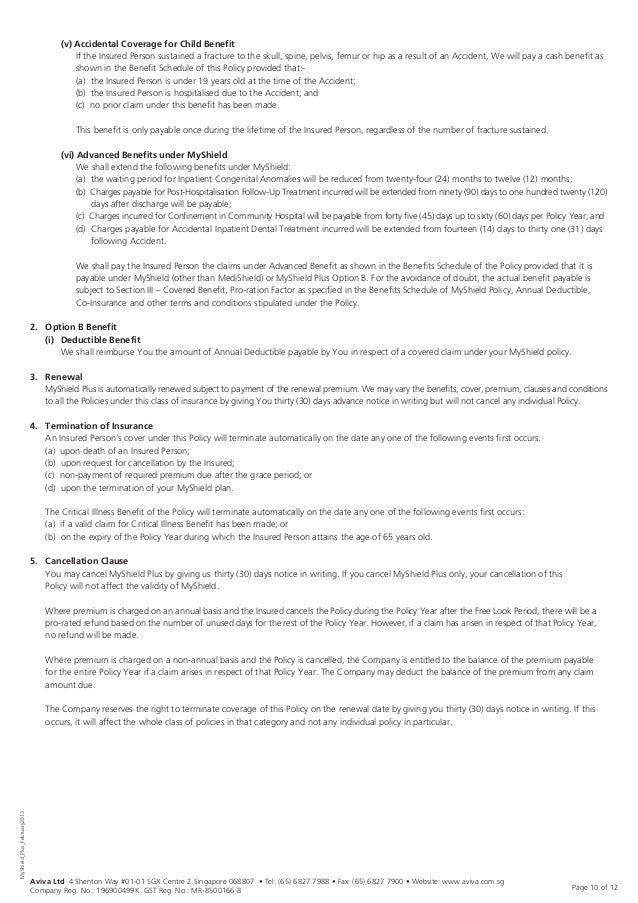 AvivaS My Shield  Myshield Plus App Form  Product Summ  Feb