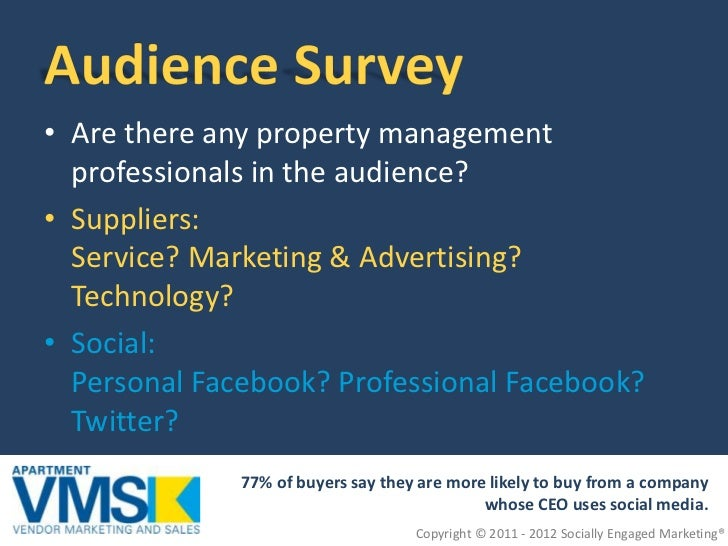 B2B Social Media for Multifamily Vendors and Suppliers  Slide 2