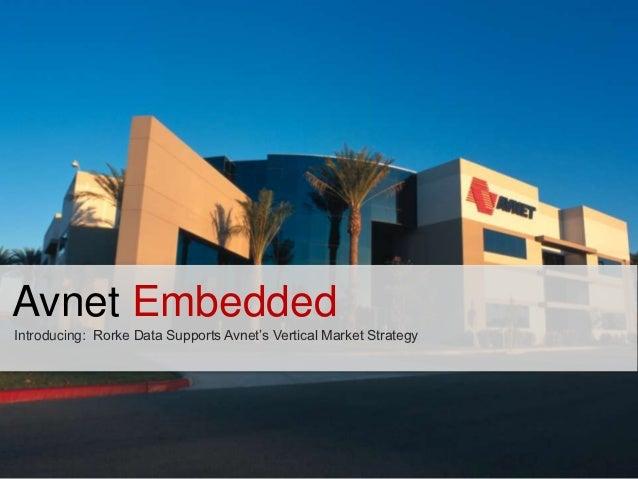 Avnet EmbeddedIntroducing: Rorke Data Supports Avnet's Vertical Market Strategy