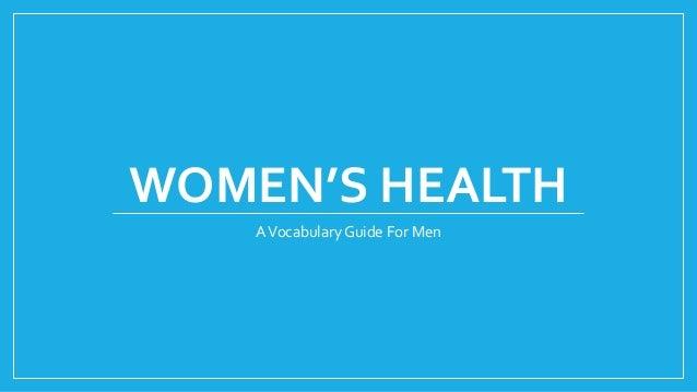 WOMEN'S HEALTH AVocabulary Guide For Men