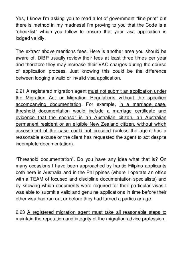 migration regulations 1994 visa application charges