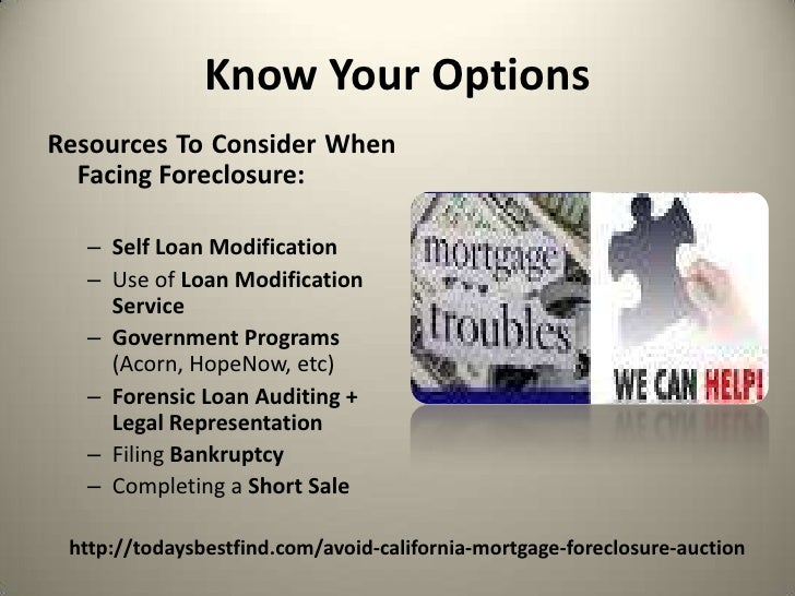 Avoid California Mortgage Foreclosure Auction | Save My Home