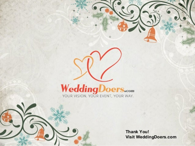 Thank You! Visit WeddingDoers.com