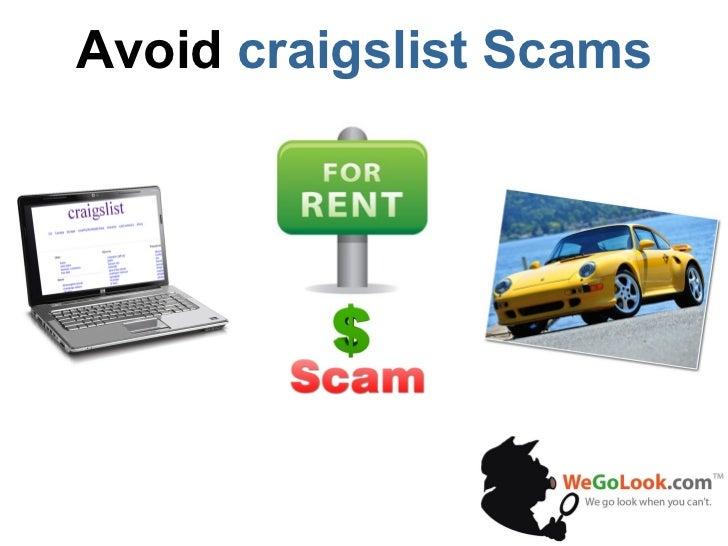 http://wegolook.com Avoid Craigslist Scams
