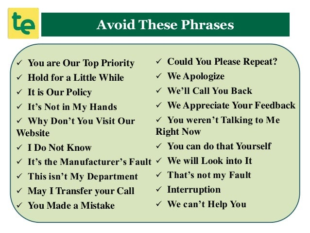 Are you killing your customer service by using these 20 phrases ccuart Images