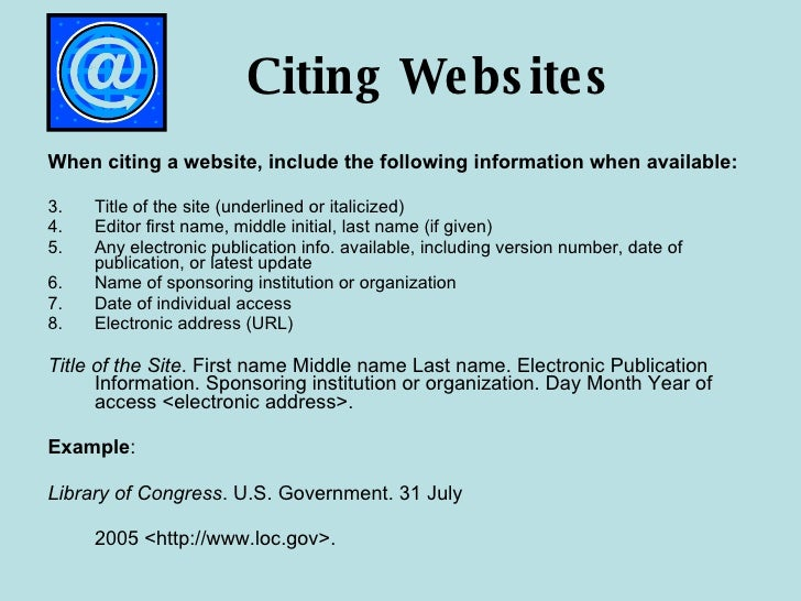 how to cite a webpage