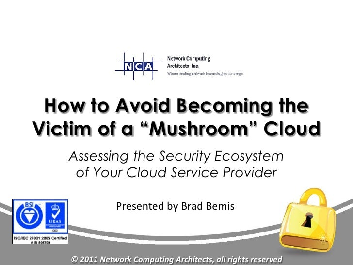 "How to Avoid Becoming theVictim of a ""Mushroom"" Cloud   Assessing the Security Ecosystem    of Your Cloud Service Provider..."