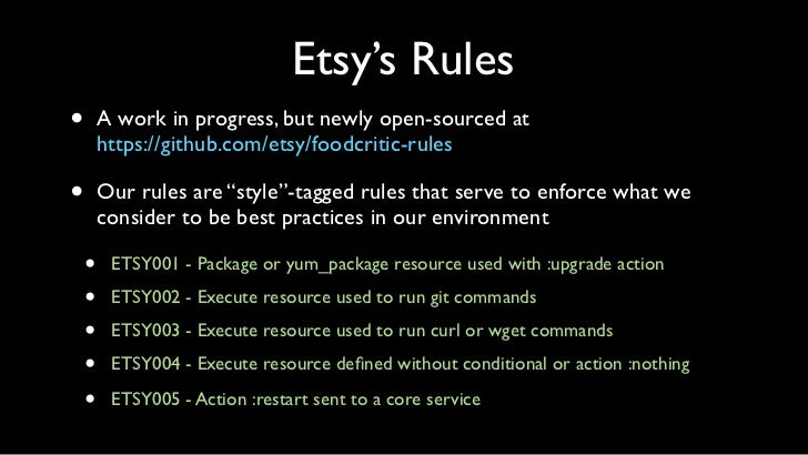 Rule Resulting from Image Outage•   ETSY005 - Action :restart sent to a core service    •   Trippable services include htt...