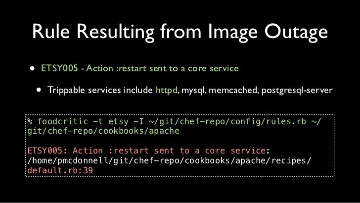 """Rule Resulting from Image Outage30 template """"/etc/httpd/conf/httpd.conf"""" do31   source """"httpd-conf.erb""""32   owner """"root""""33..."""