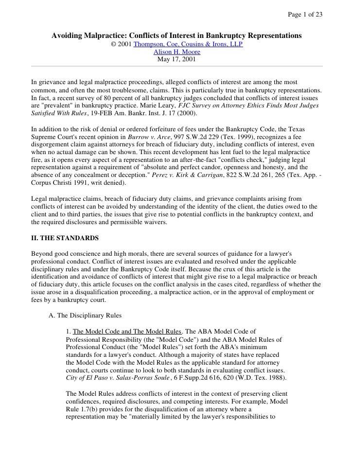 Sample Conflict Waiver Letter