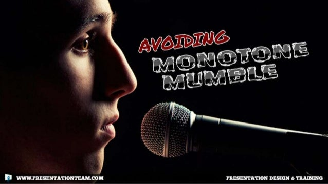 Avoiding Monotone Mumble: How Public Speakers can Speak More Clearly