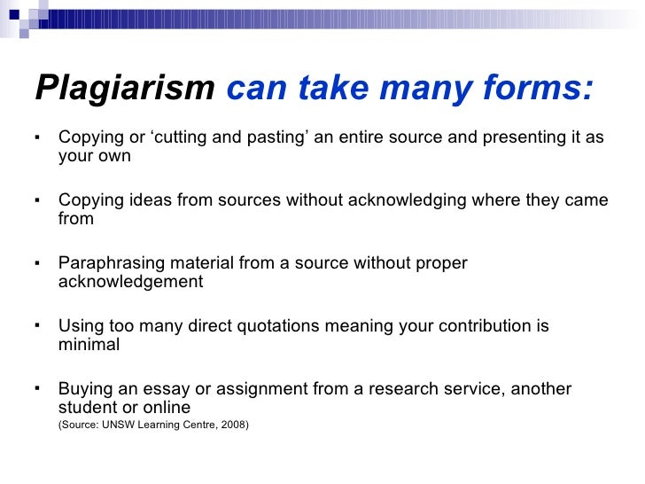 Is buying an essay plagiarism