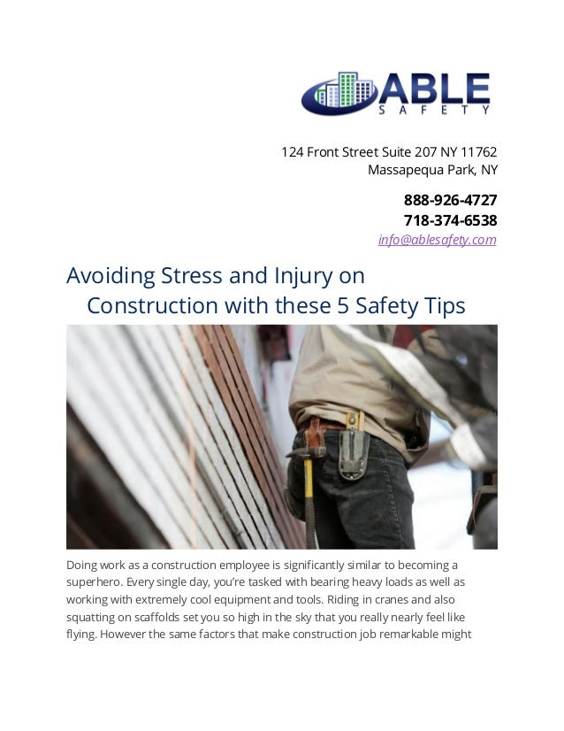 Avoiding stress and injury on construction with these 5 ...