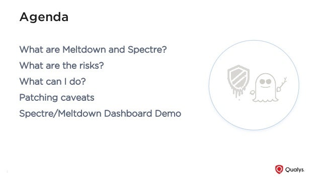 Avoid Meltdown from the Spectre - How to measure impact and track remediation Slide 2