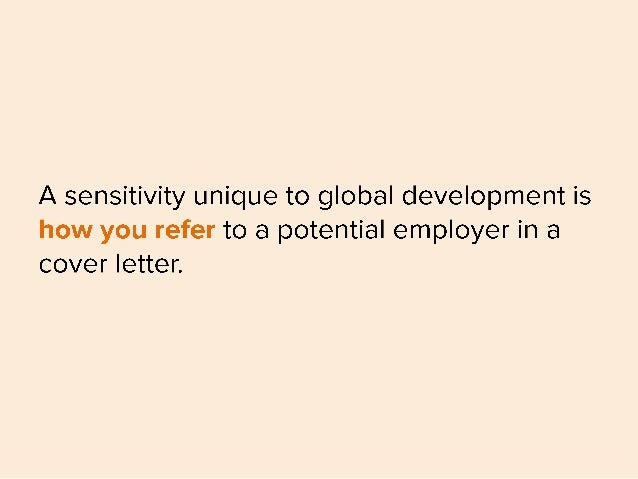 how to write a prospective cover letter - a sensitivity unique to global
