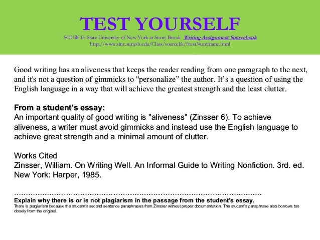 plagiarism essay test Is using free essay samples a good idea probably every student who has ever had to write an academic assignment knows this situation: the deadline crawls closer, you've done all the necessary research, but still cannot start writing because practical aspects of the job keep eluding you.