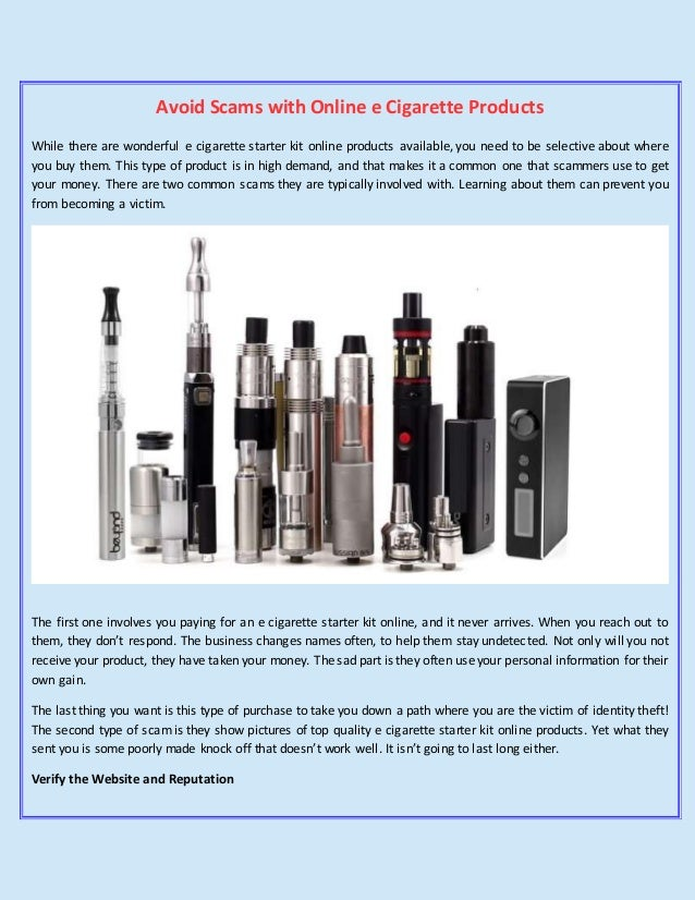 Avoid Scams with Online e Cigarette Products - Vapor Land