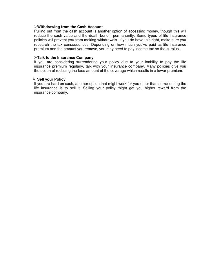 Avoid surrendering life insurance policy (1)