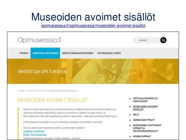 www.matleenalaakso.fi Yli 320 bloggausta ja lisää tulossa • Koulutusdiojen sivulla noin 30 päivittyvää diasarjaa ja muuta ...