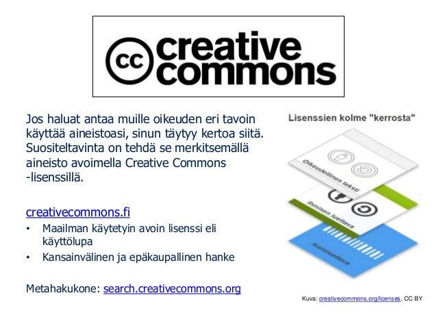 Tämä dia on muunnelma Tarmo Toikkasen tarmo.fi CC BY-SA -lisensoidusta teoksesta: Tekijänoikeudet ja Creative Commons data...