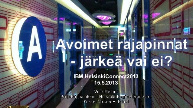 IBM HelsinkiConnect201315.5.2013