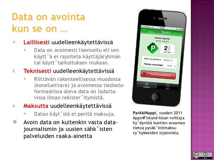 Avoin data  Slide 3