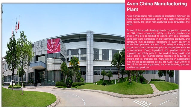 Avon's China Manufacturing Plant