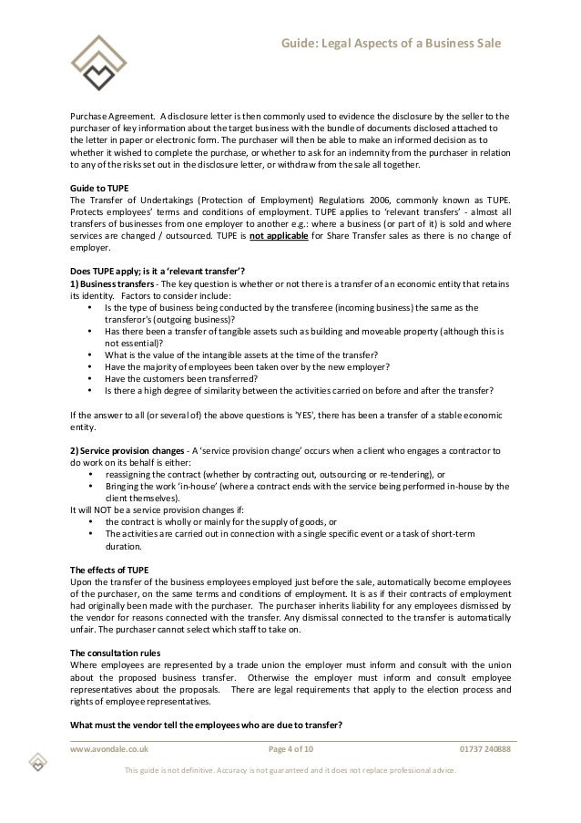 Business Sale Document