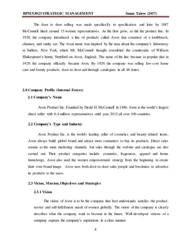 avon mission statement 2019