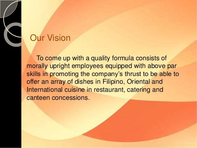 Catering Business Proposal To AVON