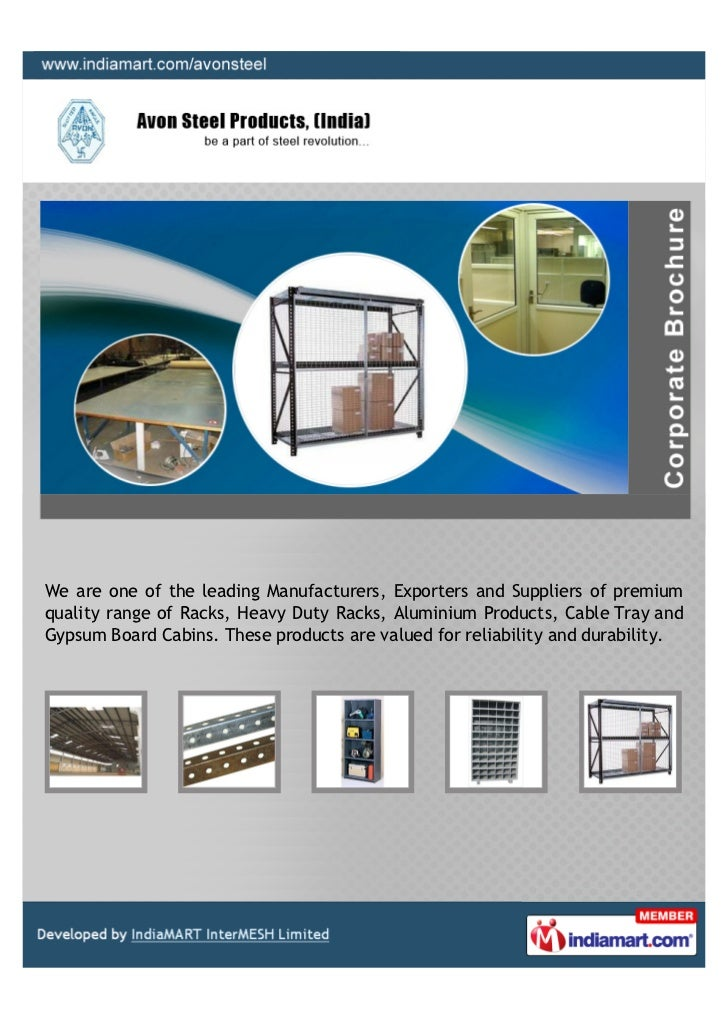 We are one of the leading Manufacturers, Exporters and Suppliers of premiumquality range of Racks, Heavy Duty Racks, Alumi...