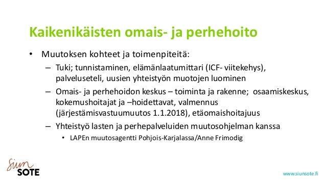 Tuula Kiviniemi: AVOT-hankkeen esittely
