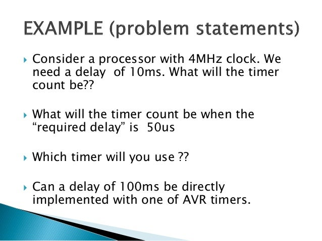   What will we do for cases like the 100ms delay? The solution lies in reducing the frequency.  How do we do that? That's...