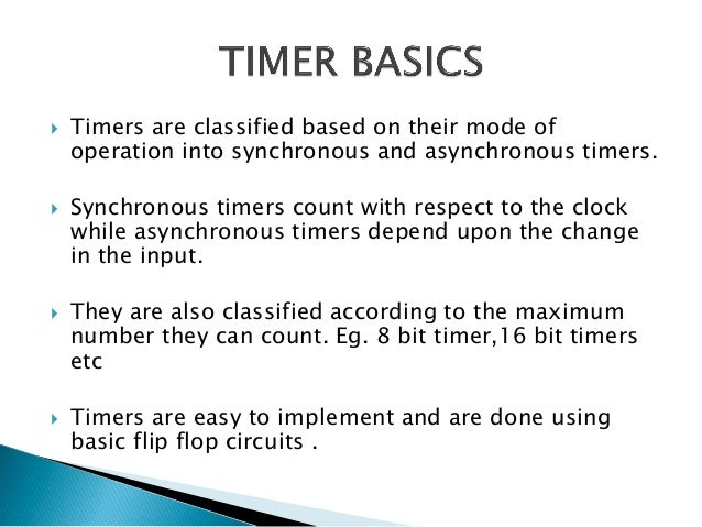 Avr timers