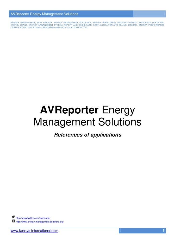 AVReporter Energy Management SolutionsENERGY MANAGEMENT, SAVE ENERGY, ENERGY MANAGEMENT SOFTWARE, ENERGY MONITORING, INDUS...