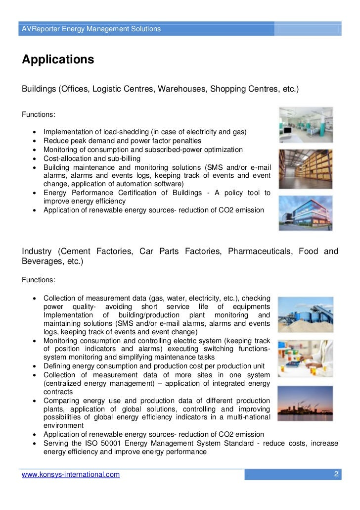 AVReporter Energy Management SolutionsApplicationsBuildings (Offices, Logistic Centres, Warehouses, Shopping Centres, etc....