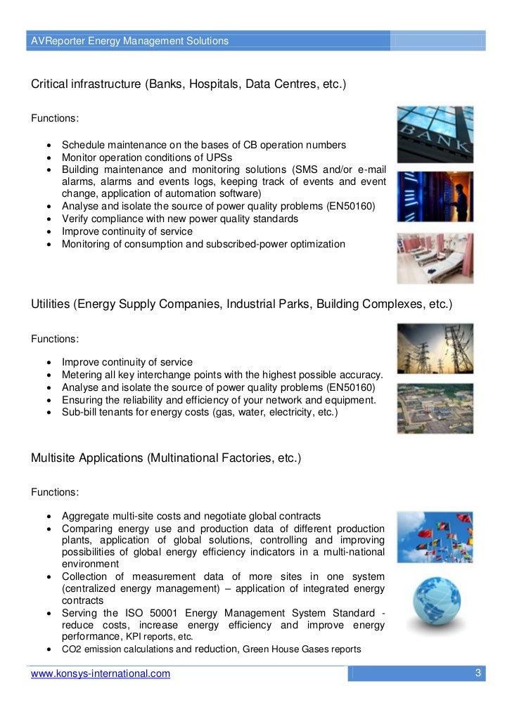 AVReporter Energy Management SolutionsCritical infrastructure (Banks, Hospitals, Data Centres, etc.)Functions:      Sched...