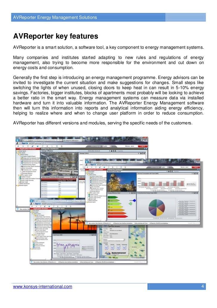 AVReporter Energy Management SolutionsAVReporter key featuresAVReporter is a smart solution, a software tool, a key compon...