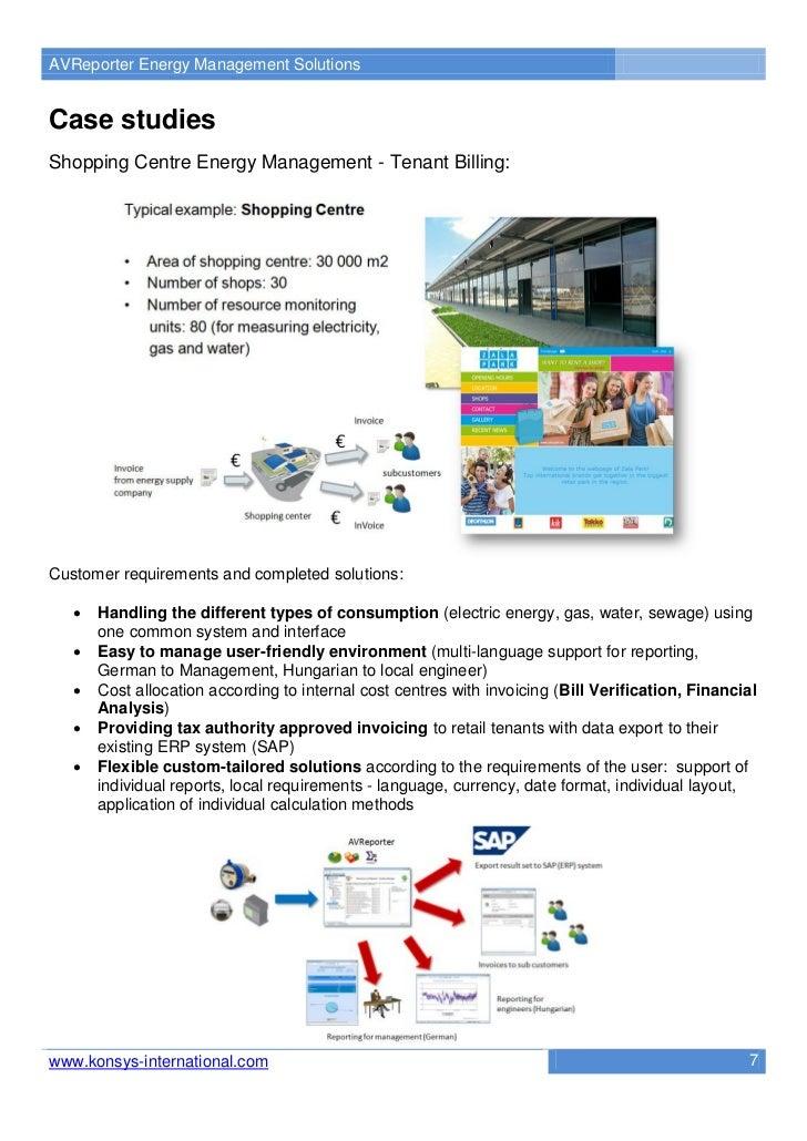 AVReporter Energy Management SolutionsCase studiesShopping Centre Energy Management - Tenant Billing:Customer requirements...