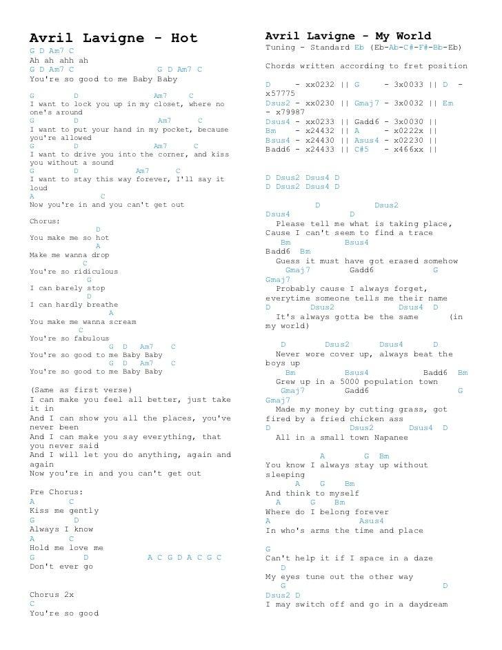 Avril Lavigne Chords 4 728gcb1348361383