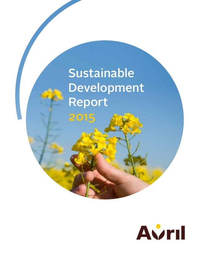 Avril - Sustainable Development Report 2015