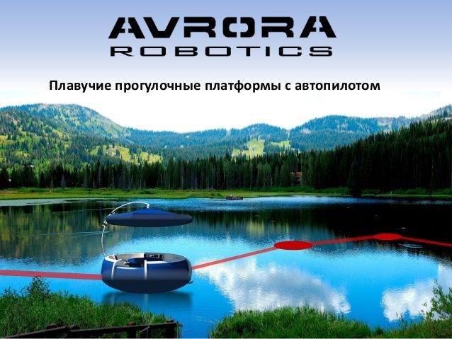 Плавучие прогулочные платформы с автопилотом
