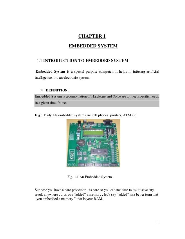 training report on embedded system and AVR