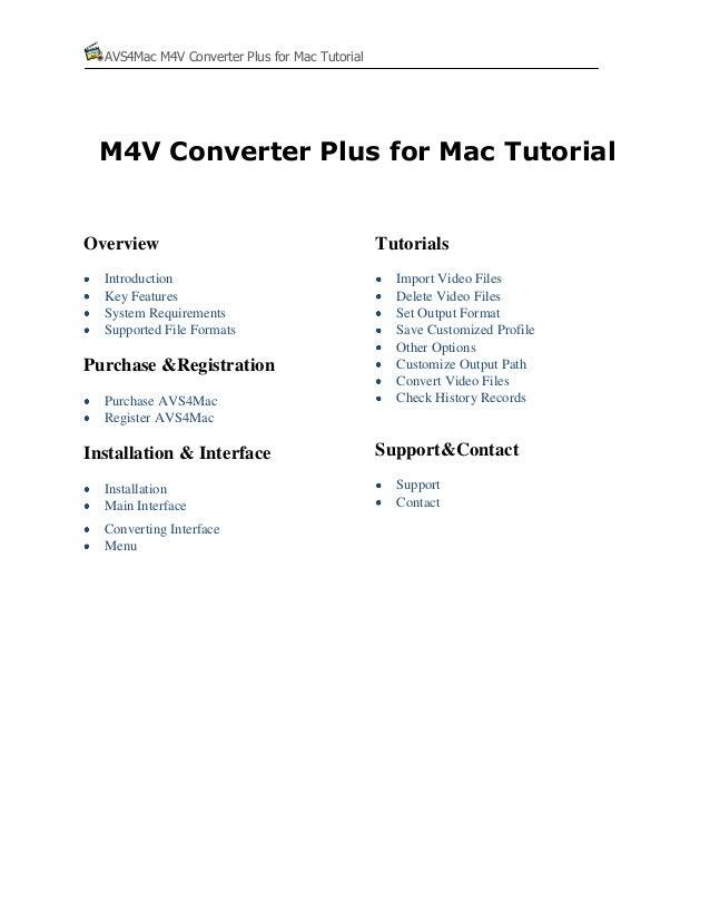 Avs4mac m4v converter plus for mac