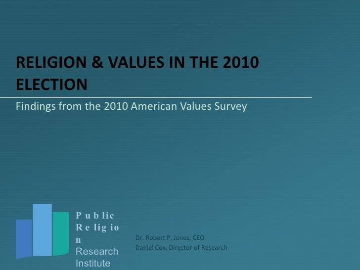 RELIGION & VALUES IN THE 2010 ELECTION Findings from the 2010 American Values Survey