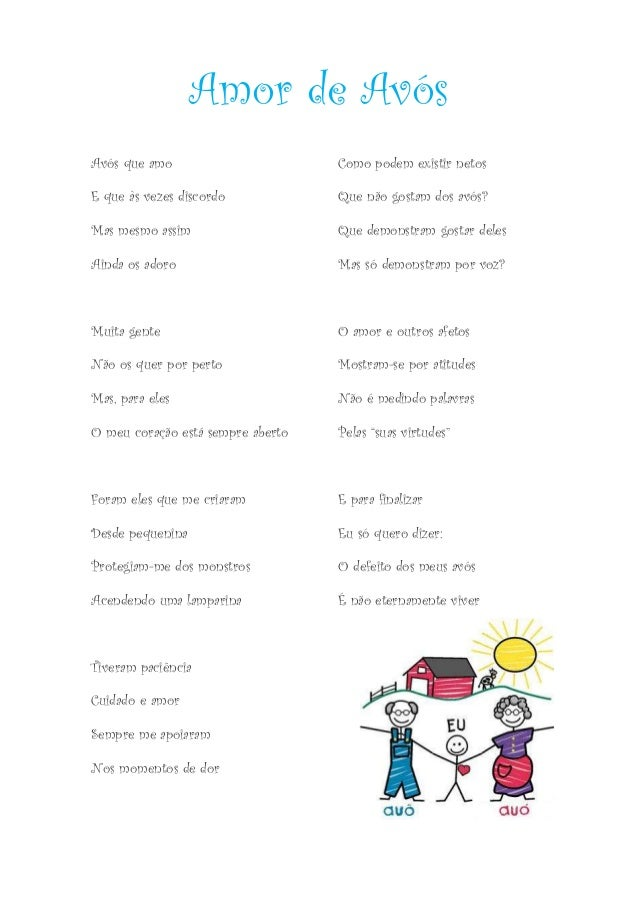 Avós Que Amo Poema