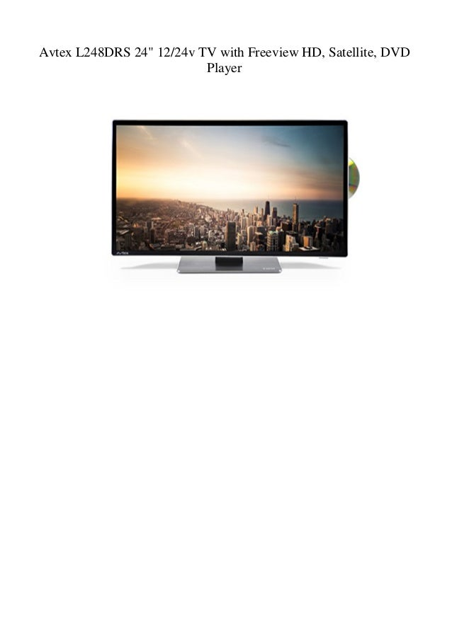"""Avtex L248DRS 24"""" 12/24v TV with Freeview HD, Satellite, DVD Player"""